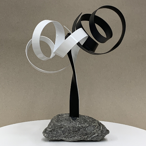 tabletop metal sculpture